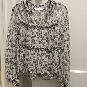 Intermix black and white floral blouse